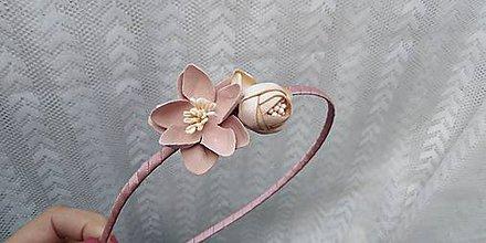 Ozdoby do vlasov - Čelenka... kvety marhuľové - 10788890_