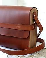 Veľké tašky - Unisex taška MAXI MESSENGER  BROWN - 10787485_