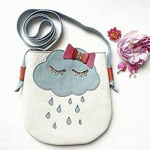 Detské tašky - Spiaci obláčik (Biela) - 10787531_