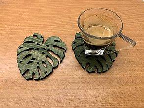 Pomôcky - Podložky pod nápoje (Zelená) - 10787544_