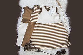 Detské oblečenie - Šaty NATURE (biobavlna) - 10787398_