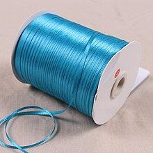 Galantéria - stuha saténová modrá 3mm - 10787661_