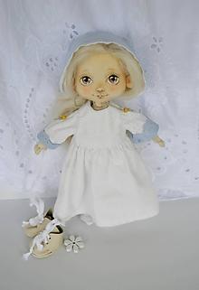 Hračky - Priateľky do kabelky. Textilná bábika - Snežienka_2 - 10788353_