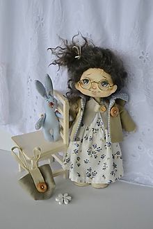 Hračky - Priateľky do kabelky. Textilná bábika (menšia) - Holubienka - 10788427_