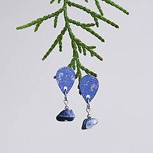 Náušnice - mini s kamienkom ~ napichovisiačky (modré so sodalitom) - 10788304_