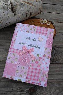 Papiernictvo - Zápisník pre p.učiteľku-textilný (Ružová) - 10787095_