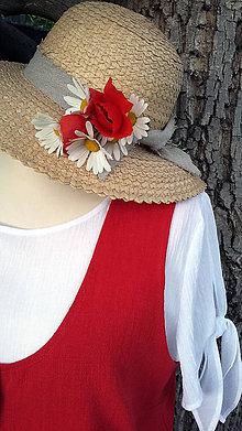Iné oblečenie - Červená ľanová vestička - 10788935_