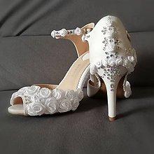 Obuv - Svadobné sandálky - 10789118_