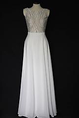 Šaty - Svadobné šaty s holým chrbátom do V - 10788855_