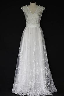 Šaty - Svadobné šaty vo francúzskom štýle - 10788942_