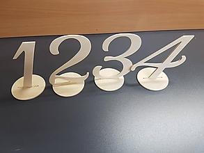 Dekorácie - Čísla na svadobné stoly (Biele čísla) - 10786540_