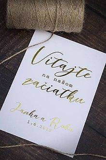 Papiernictvo - Uvítacia kartička - Vitajte na našom začiatku - 10786748_