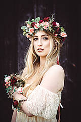 Náramky - Boho kvetinový náramok