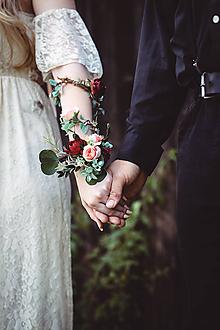 """Náramky - Boho kvetinový náramok """"blízko ku šťastiu"""" - 10787648_"""