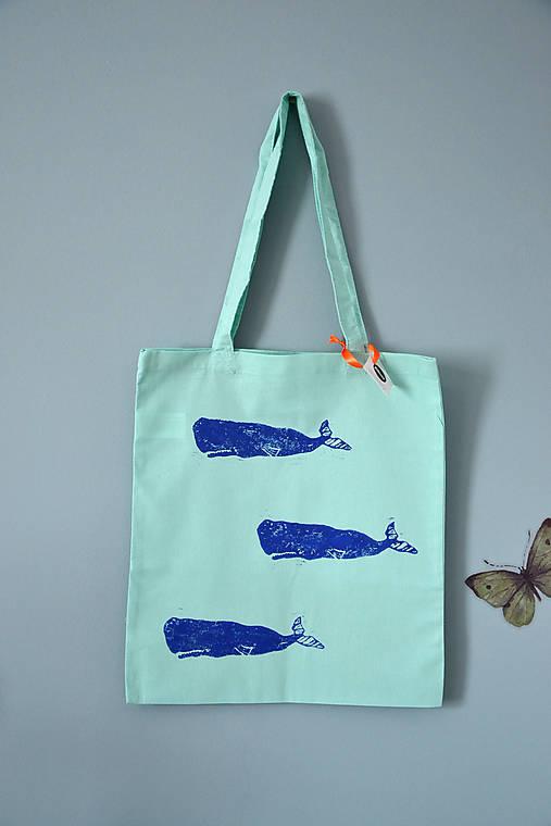 Plátená taška, veľryby (Tri vorvane modré)