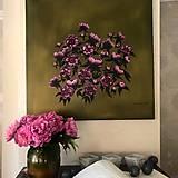 Obrazy - Zlaté pivonky - 10788270_