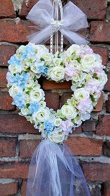 Dekorácie - Veniec svadobny Hrdličky - 10788751_