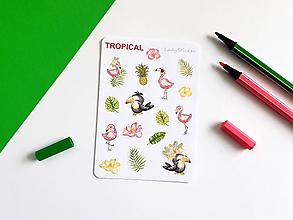 Drobnosti - Tropical samolepky - 10786247_