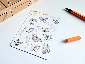Drobnosti - Butterflies (samolepky) - 10786256_