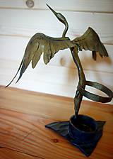 Pomôcky - Kovaný stojan na písacie potreby - volavka - 10786499_