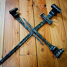 Dekorácie - Kovaný kríž - rustikál - 10786565_