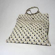 Nákupné tašky - Textilní nákupní taška s ovečkami - 10788594_