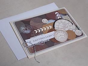 """Papiernictvo - ...pohľadnica narodeninová """"chlapská""""... - 10789109_"""