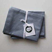 Úžitkový textil - Obliečky modrosivé 40x60 cm - 10788036_