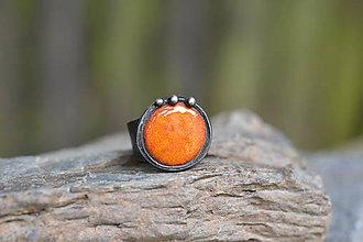 Prstene - pomeranč - 10786392_