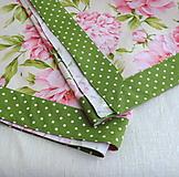 Úžitkový textil - Romantický obrus s pivóniami - 10786617_