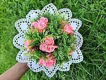 Kytice pre nevestu - Kytica k svadbe - ružová. - 10787033_