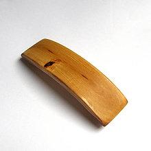 Ozdoby do vlasov - Drevená spona do vlasov - brezová veľká - 10786399_