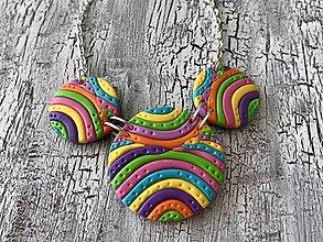 Náhrdelníky - dúhový náhrdelník - 10788491_