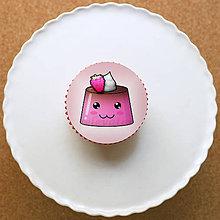 Dekorácie - Puding usmievavý - grafika na koláč (malinový) - 10788061_