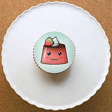 Dekorácie - Puding usmievavý - grafika na koláč (jahodový) - 10788062_