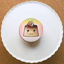 Dekorácie - Puding usmievavý - grafika na koláč (čokoládový) - 10788065_