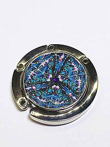 Iné doplnky - Háčik na kabelku zdobený kaleidoskop (Modrá) - 10789722_
