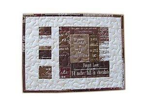 """Úžitkový textil - Prestieranie """"Chocolate"""" - 10790728_"""