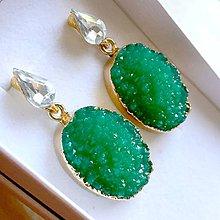 Náušnice - Druzy Crystal Earrings / Náušnice s drúzami - 10790383_