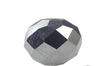 Korálky - Brusene sklenena Rondelka  4mm  (Strieborná) - 10791395_
