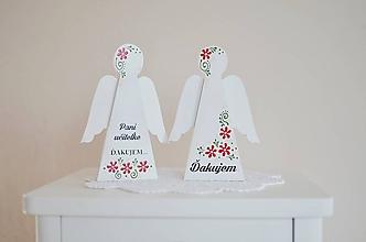 Dekorácie - Malý anjelik pre pani učiteľku - 10791770_