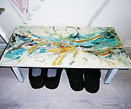 Nábytok - lel art design colorful ballet 3 lavička - 10790966_