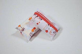 Iné tašky - Prenosný obal / zásobník na papierové vreckovky oranžové medvedíky - 10790497_