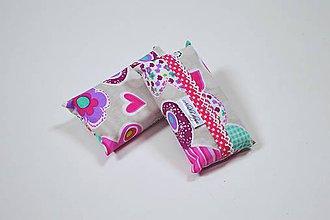 Iné tašky - Prenosný obal / zásobník na papierové vreckovky cyklamenové sovy - 10790516_