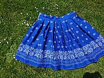 Sukne - Na ľudovú nôtu - objatie modrotlače - 10789927_