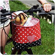 Detské tašky - Košík / taška na bicykel - BikeBag Jahodový n.2 - 10789262_