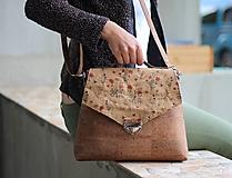 Korková kabelka + kvetinový snappap