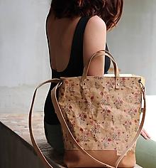 Veľké tašky - Veľká taška kvetinový snappap - 10790722_