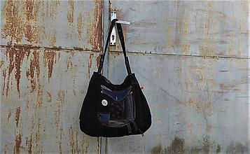 Veľké tašky - velká recy kabelka se záhyby a velkou kapsou 2 - 10790109_