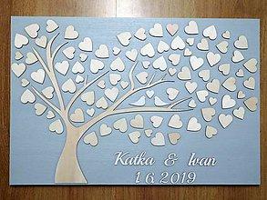 Dekorácie - svadobná kniha hostí/drevený strom 31 - 10790293_